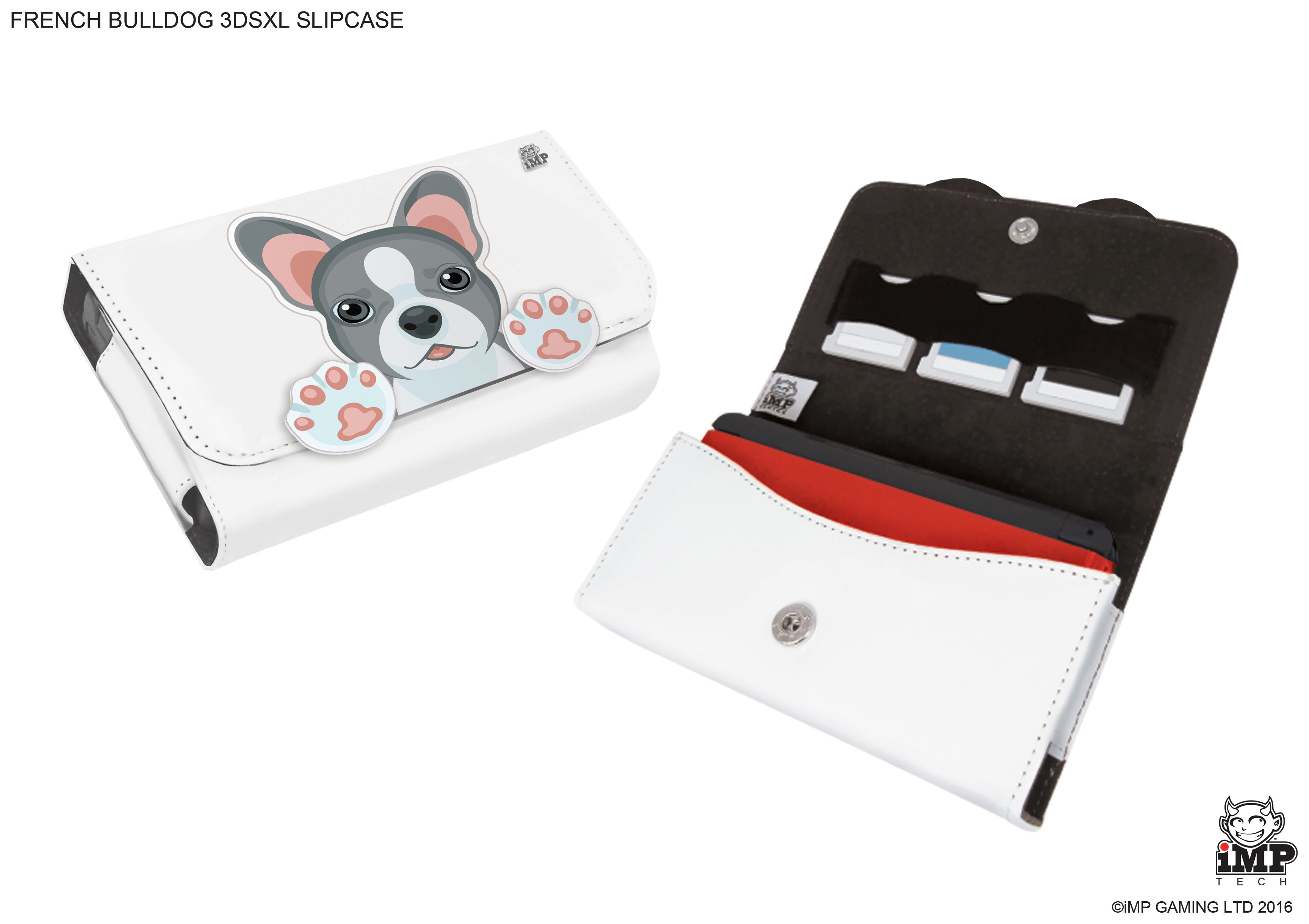 'Nintendo 3ds Xl And 3 Game Case - Bulldog Pup.