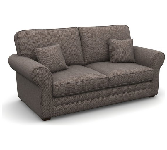 Buy heart of house chedworth 2 seater fabric sofa bed for Shale sofa bed