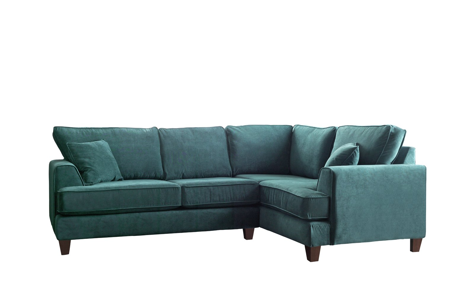 Argos Home Hampstead Right Corner Fabric Sofa - Ocean Blue