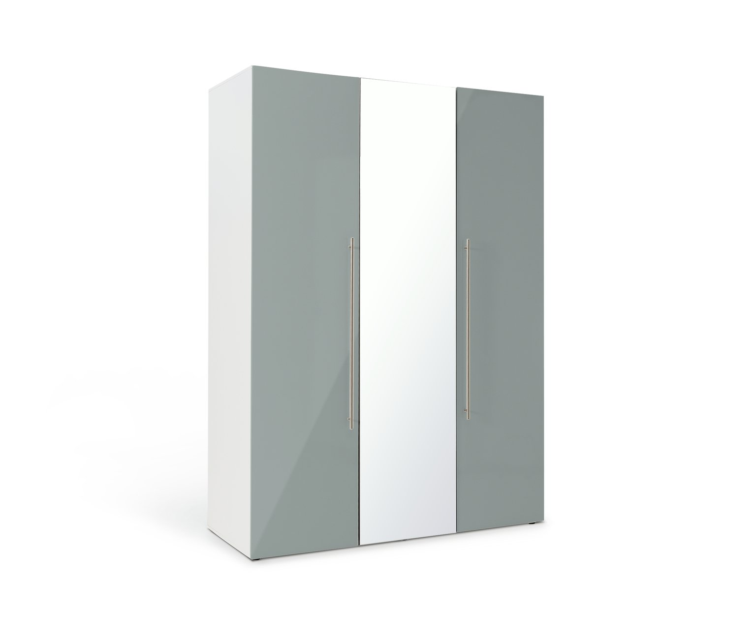 Argos Home Atlas 3 Door Mirrored Gloss Wardrobe