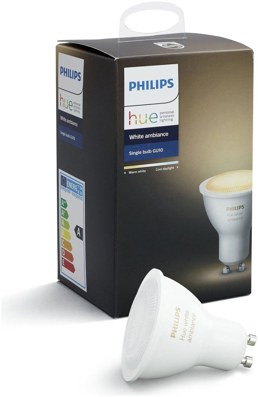 Philips Lampen Hue : Buy philips hue white ambiance gu lamp smart lighting argos