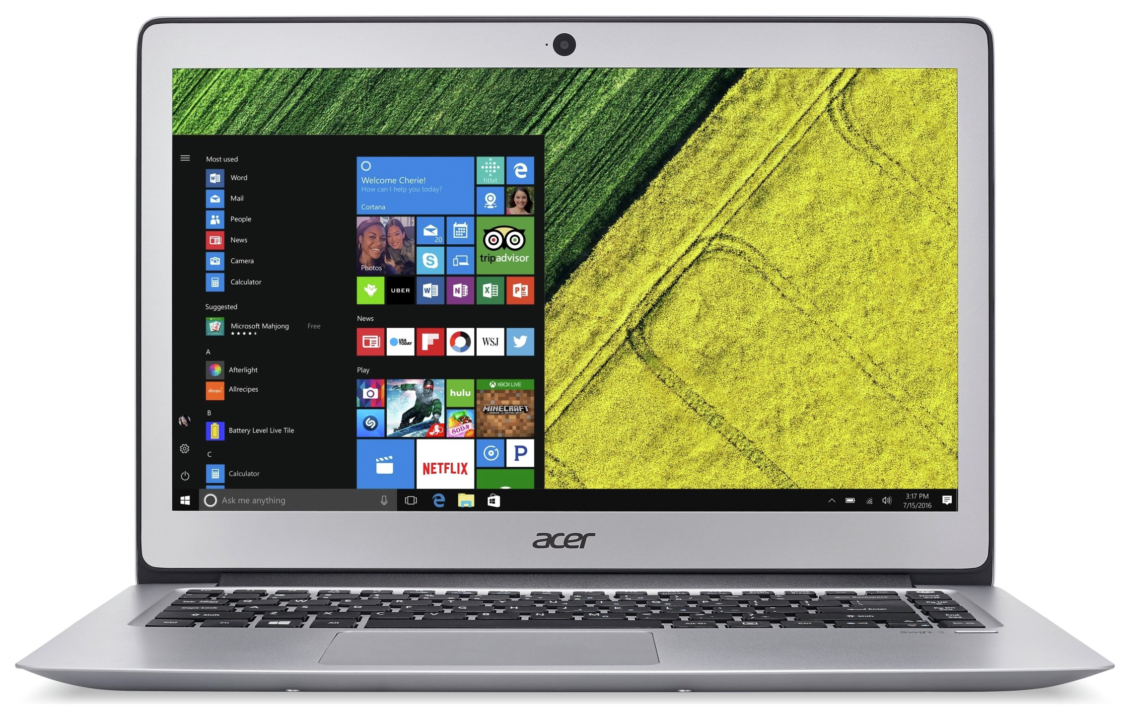 Acer Swift 3 14 Inch Ci3 8GB 128GB Laptop Silver