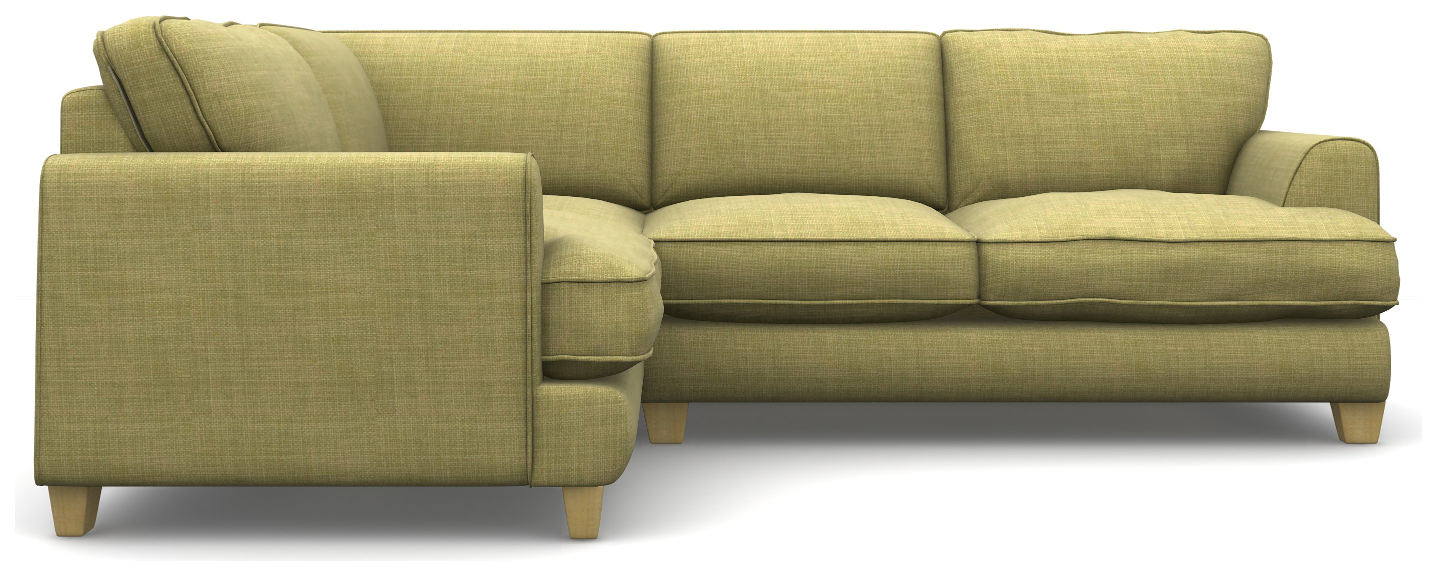 Heart of House Hampstead Fabric Left Corner Sofa - Olive