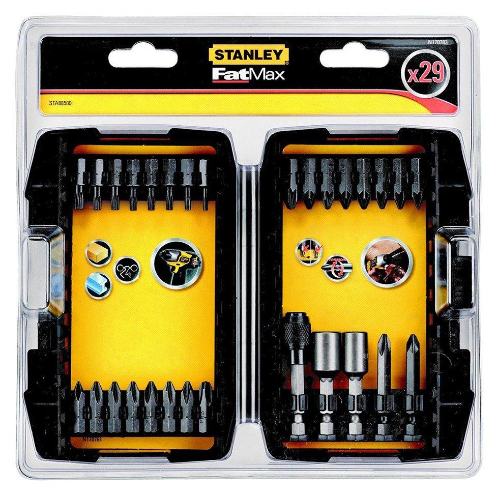 stanley fatmax 29 piece impact screwdriver bit set. Black Bedroom Furniture Sets. Home Design Ideas