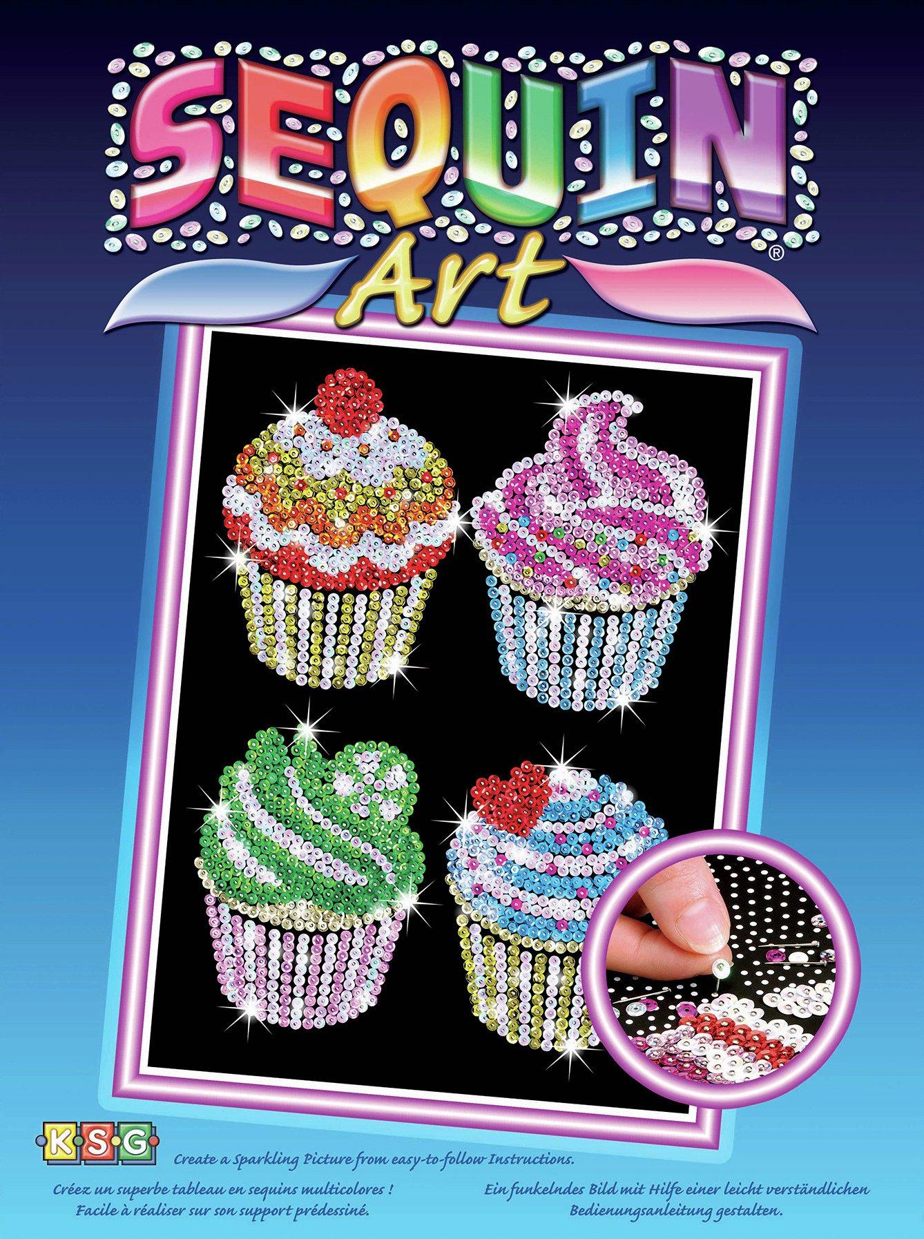 Sequin Art Cupcakes - Orignal.