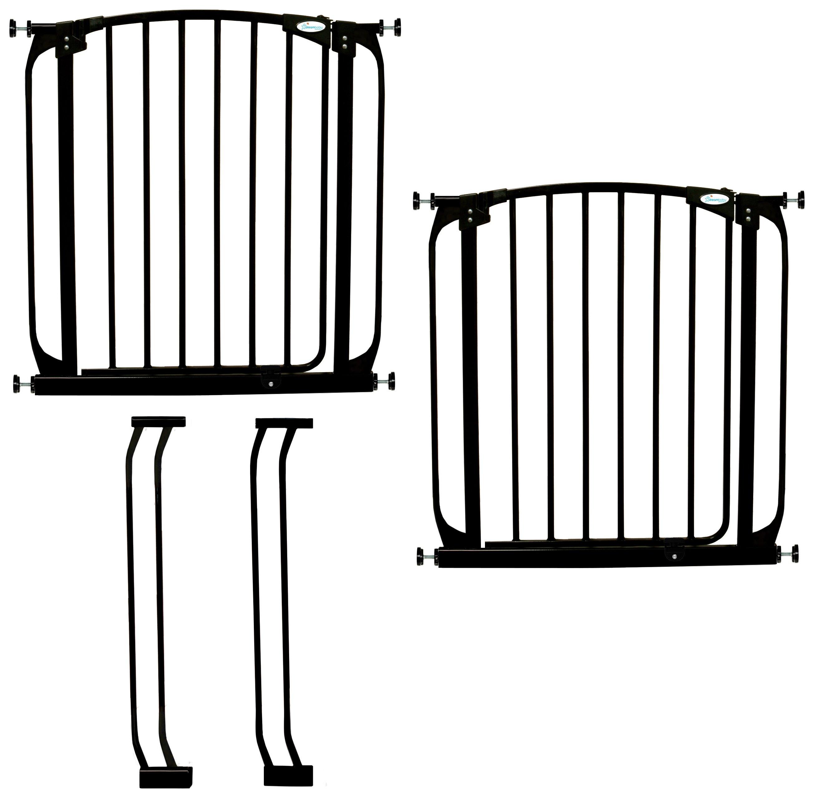 Dreambaby Chelsea Auto-Close Black Gates & Extensions