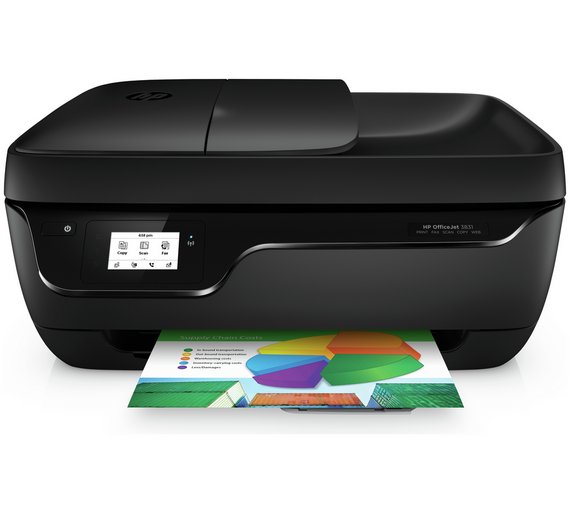 Buy hp officejet 3831 all in one wi fi printer and fax at for Best home office hp inkjet printer