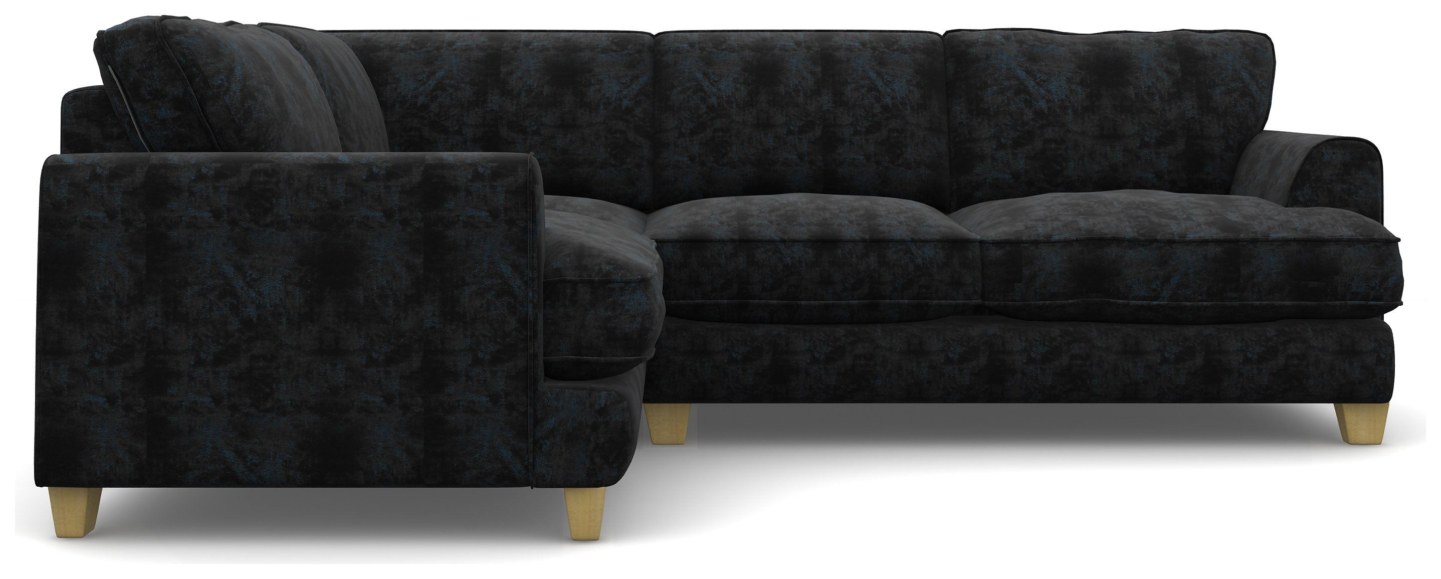Create your own Heart of House Hampstead Fabric Left Corner Sofa - Black.