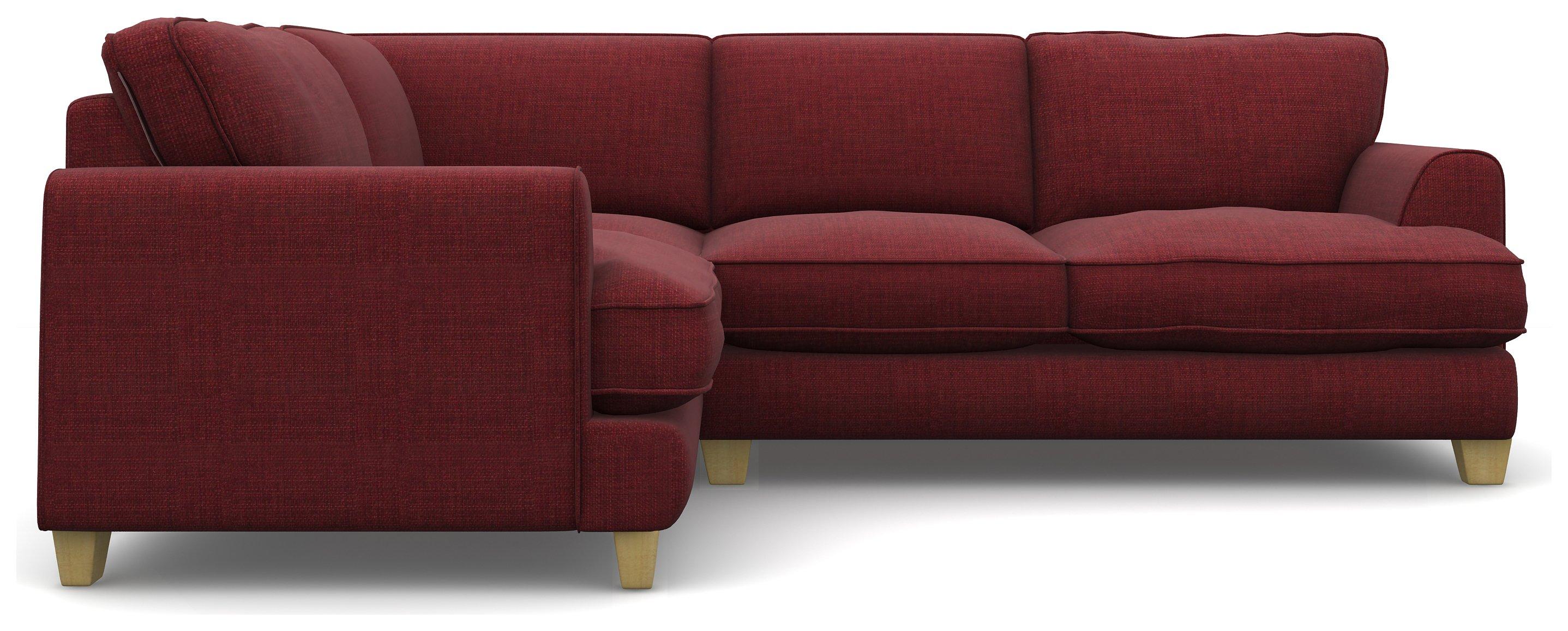 Heart of House Hampstead Fabric Left Hand Corner Sofa - Wine
