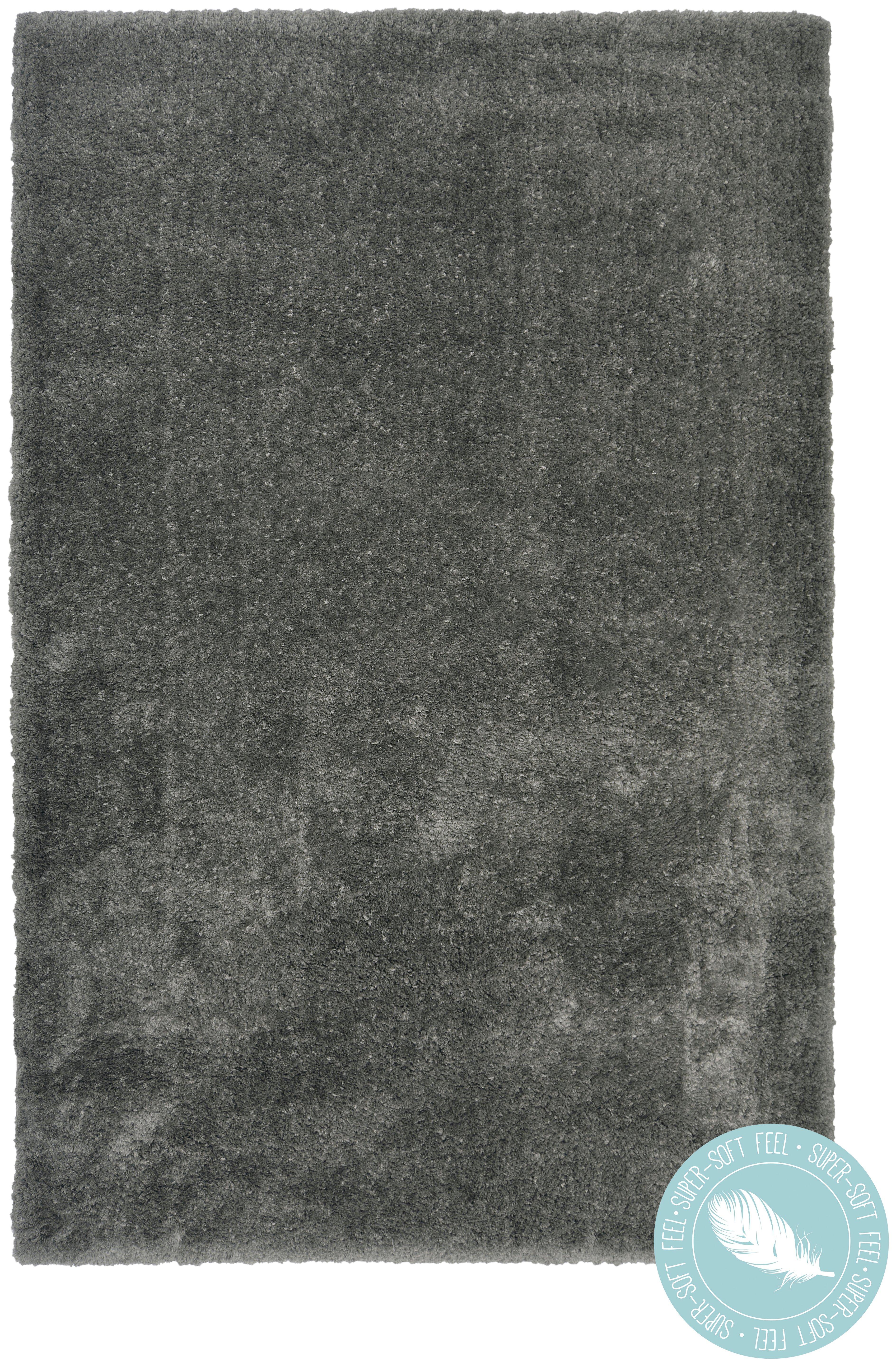 Lush Shaggy Rug - 80x150cm - Dark Grey.