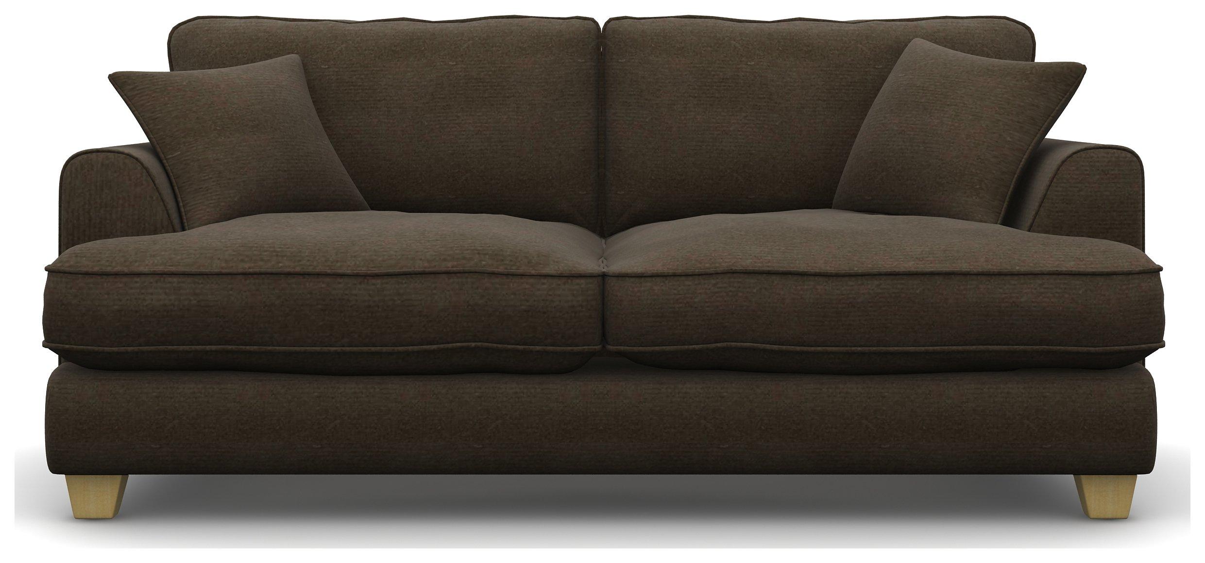 Heart of House Hampstead 3 Seater Fabric Sofa - Teak Brown
