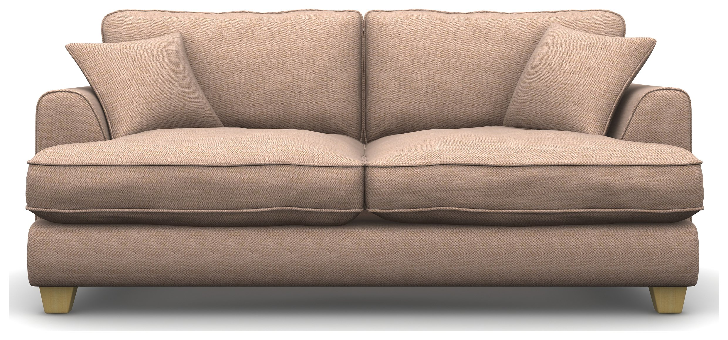 Heart of House Hampstead 3 Seater Fabric Sofa - Rose Pink
