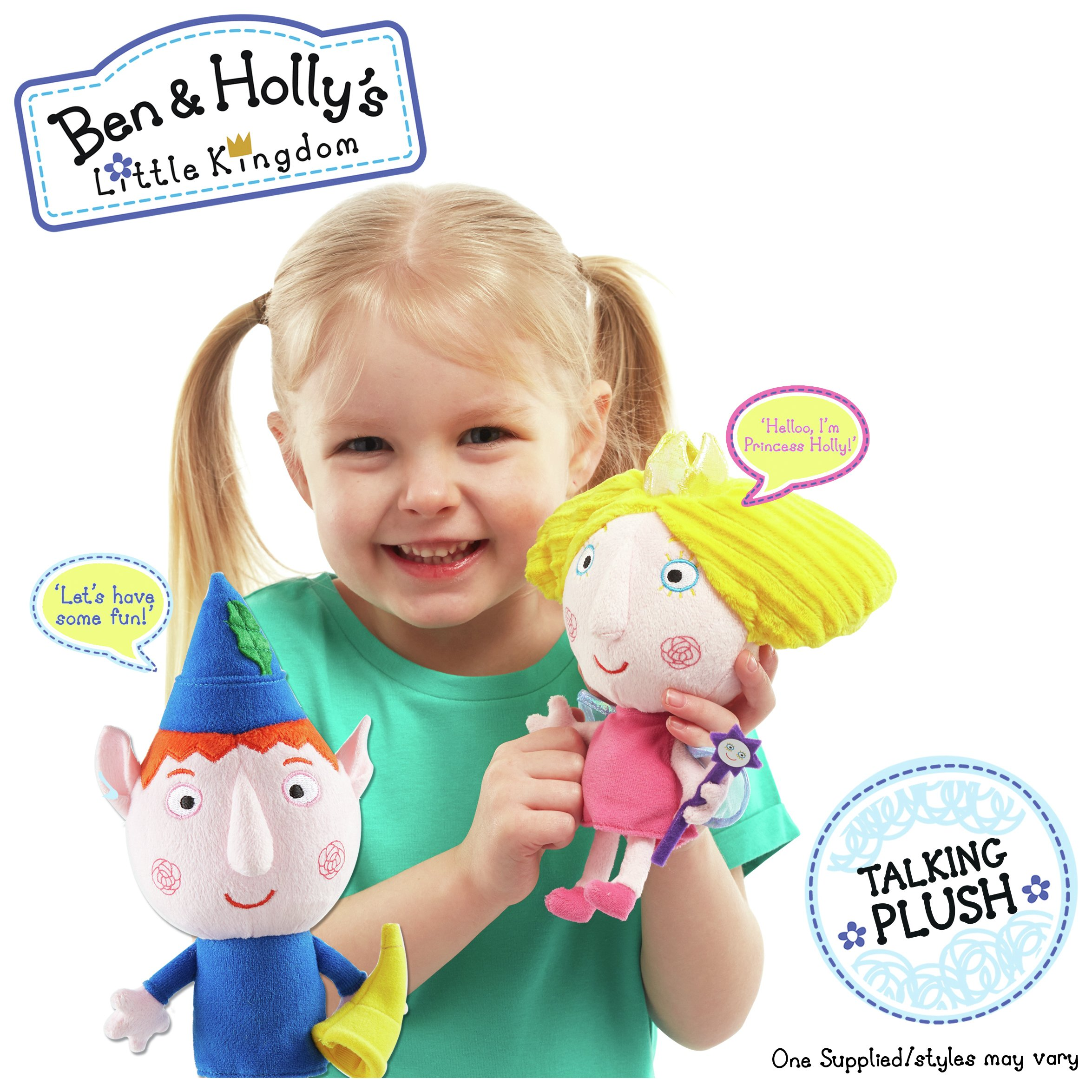 Image of Ben & Holly's Little Kingdom Talking Plush - Assorted