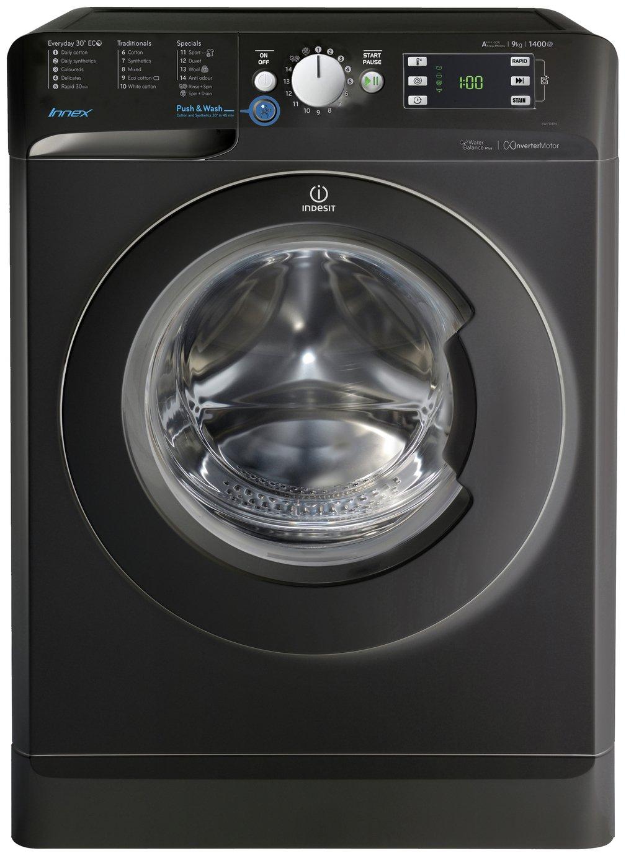Image of Indesit BWE91484X 9KG 1400 Spin Washing Machine - Black.