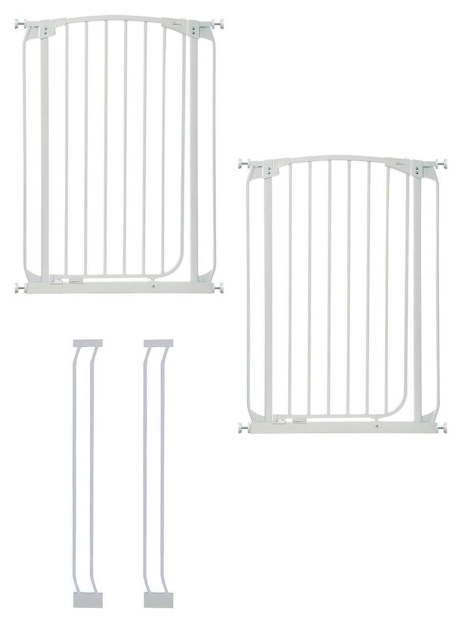 Dreambaby Chelsea Tall Auto-Close White Gates & Extensions