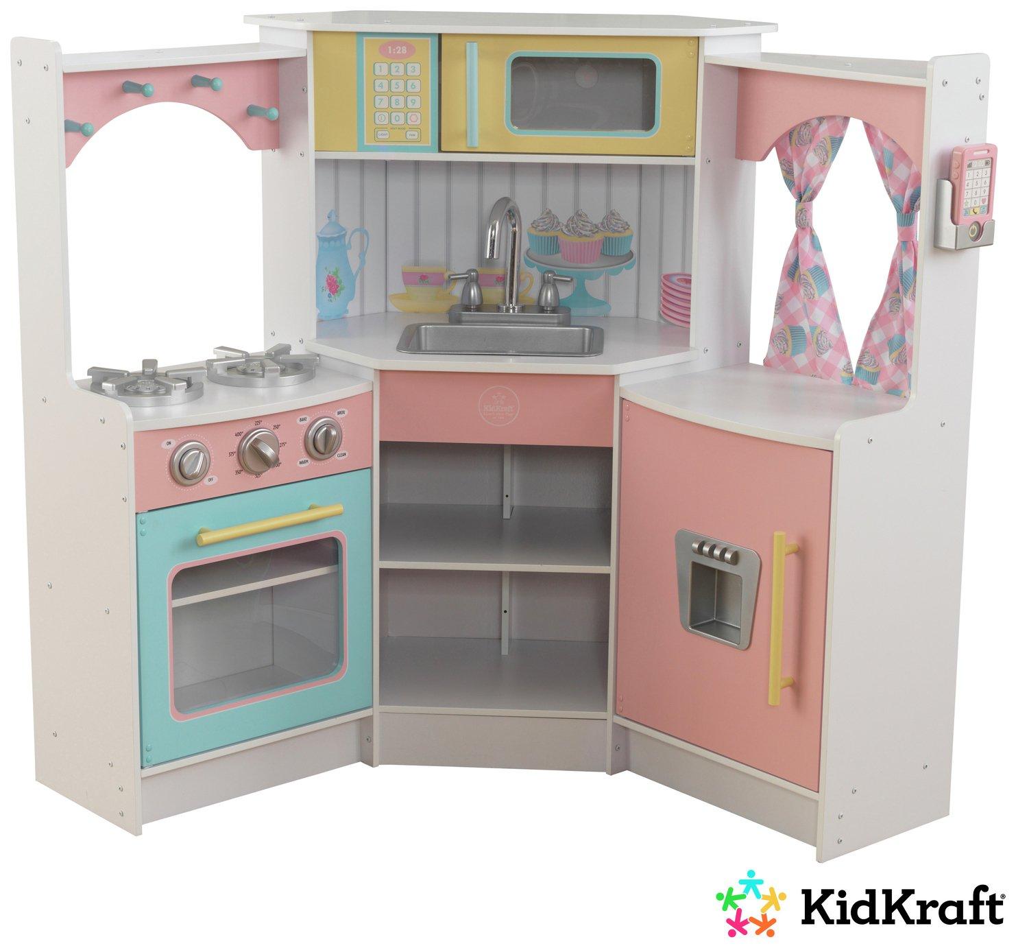 KidKraft Deluxe Corner Wooden Play Kitchen