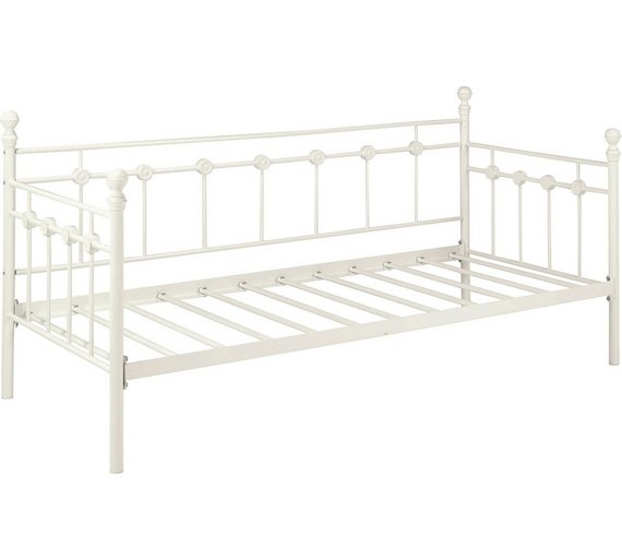 Buy Collection Abigail Single Metal Day Bed Frame White