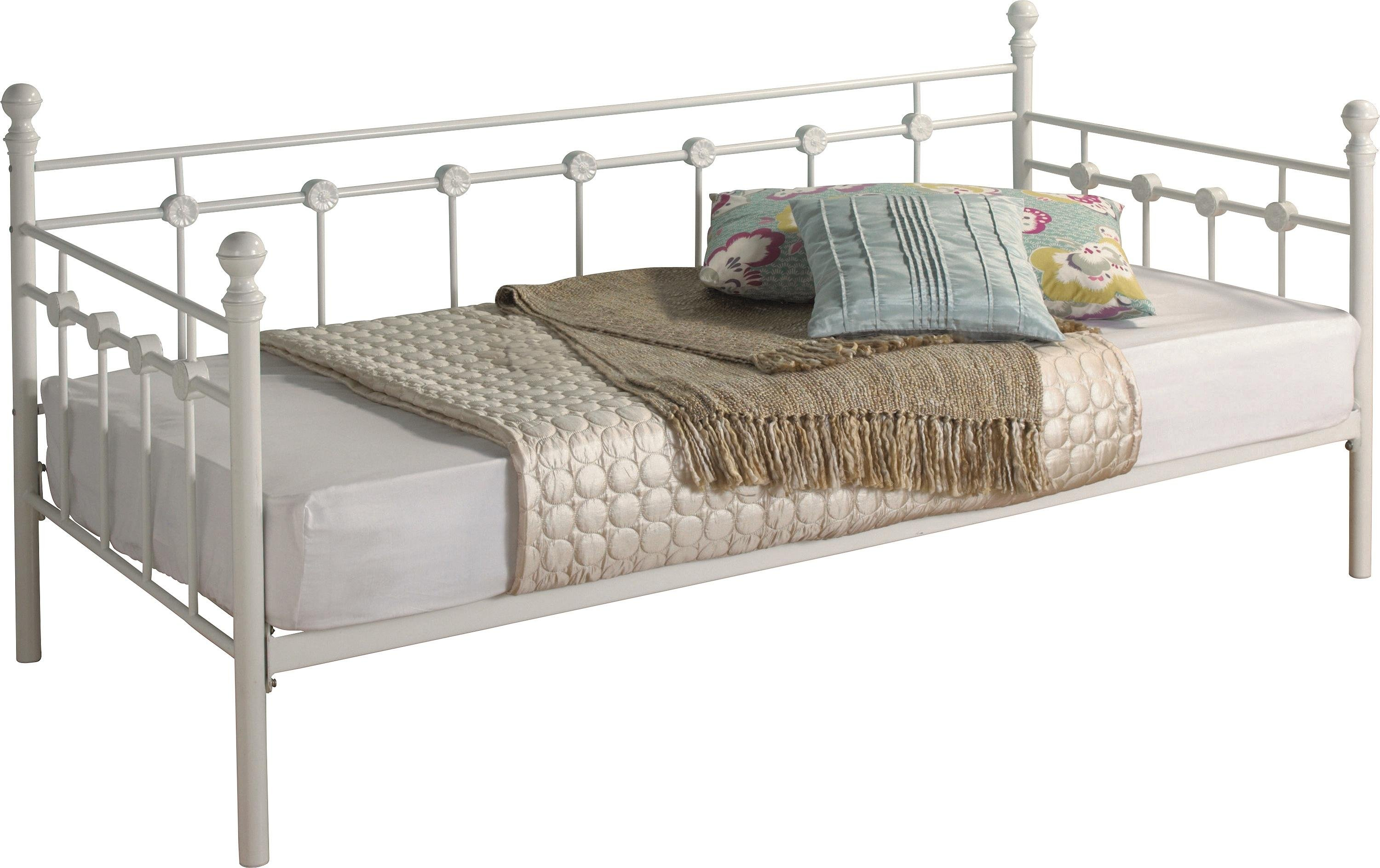 Buy Collection Abigail Metal Single Daybed Frame White at Argos