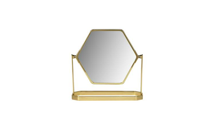 Danielle Creations Hexagon Gold Beauty Mirror