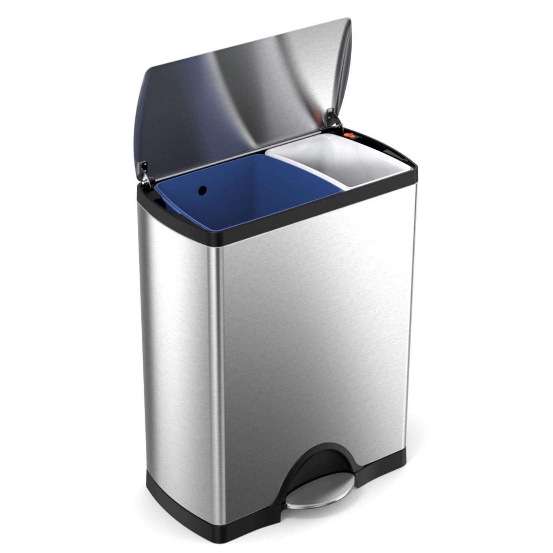simplehuman 46 Litre Rectangular Recycle Bin
