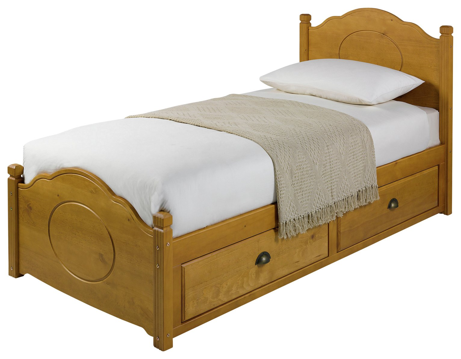 Argos Home Sherington Single 2 Drawer Bed Frame - Pine