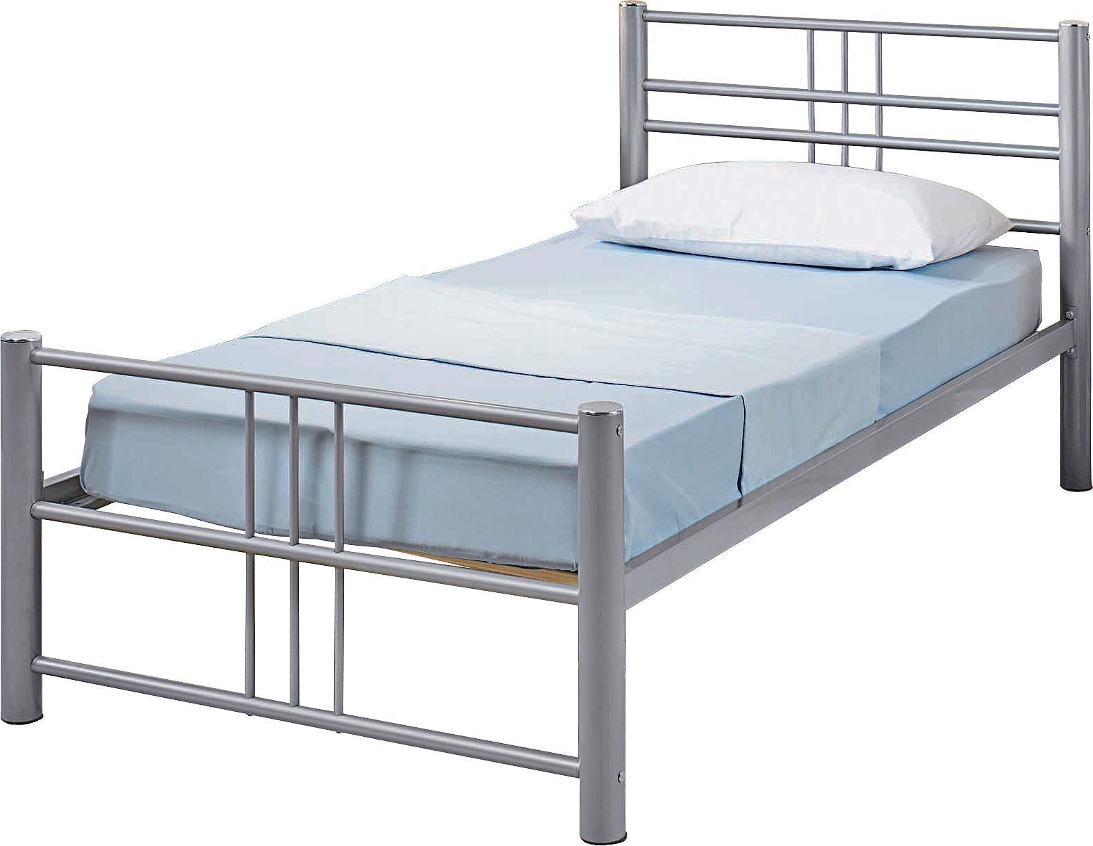 Buy Atlas Metal Single Bed Frame Silver At Argos Co Uk Your Online Shop For Bed Frames Beds