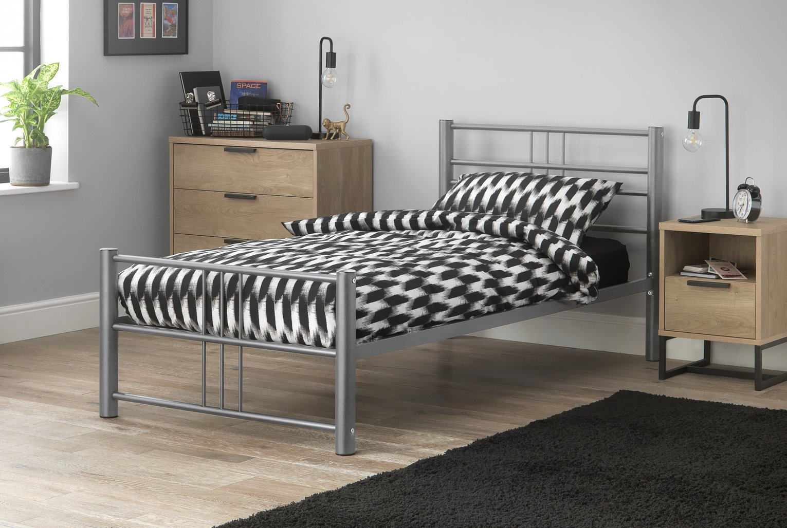 Argos Home Atlas Single Metal Bed Frame review