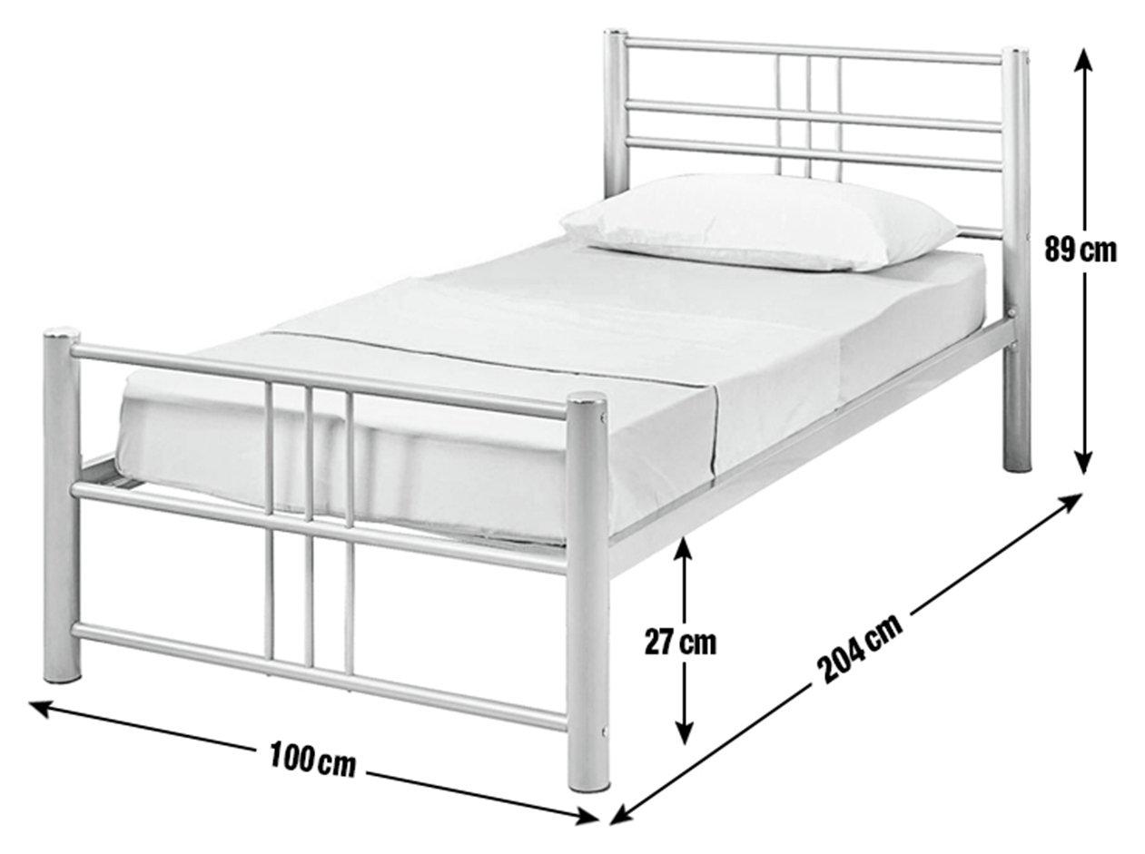 sale on home atlas single metal bed frame silver home. Black Bedroom Furniture Sets. Home Design Ideas