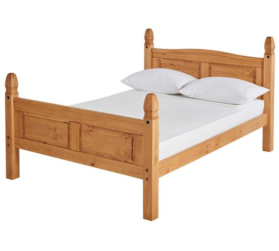 Buy Argos Home Puerto Rico Double Bed Frame - Light Pine | Bed ...