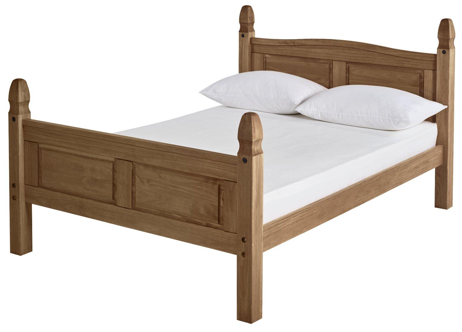 Argos Home Puerto Rico Double Bed Frame - Dark Pine