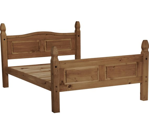 Buy Collection Puerto Rico Double Bed Frame Dark Pine At Your Online Shop For