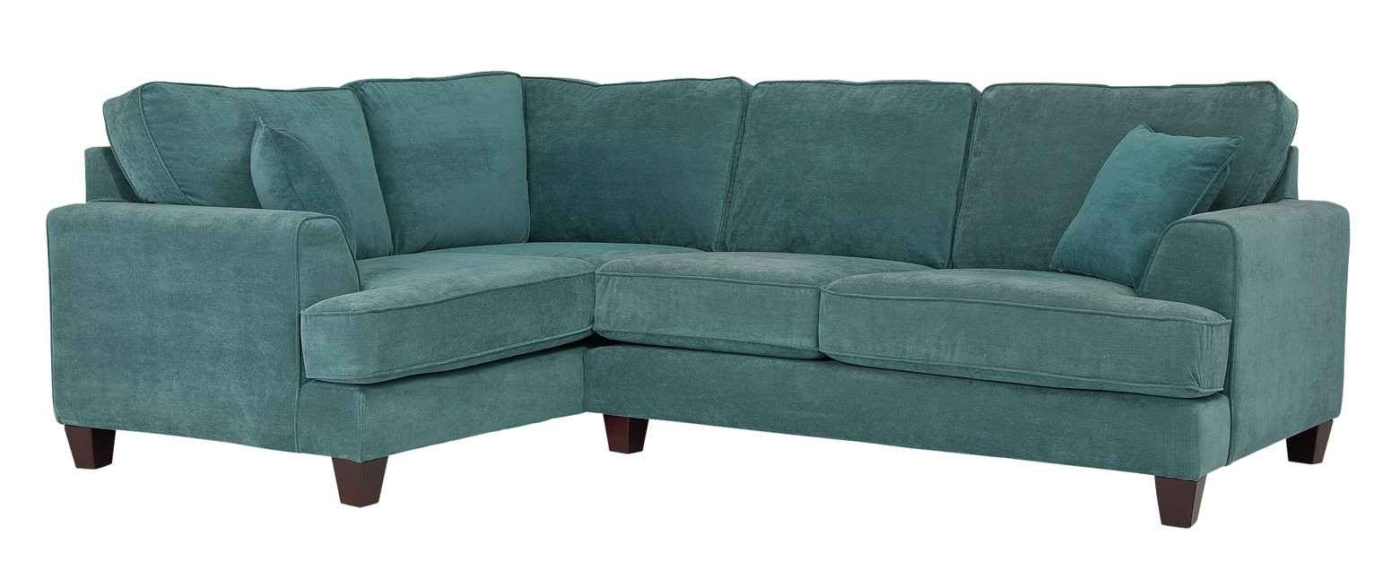 Argos Home Hampstead Left Corner Fabric Sofa - Ocean Blue