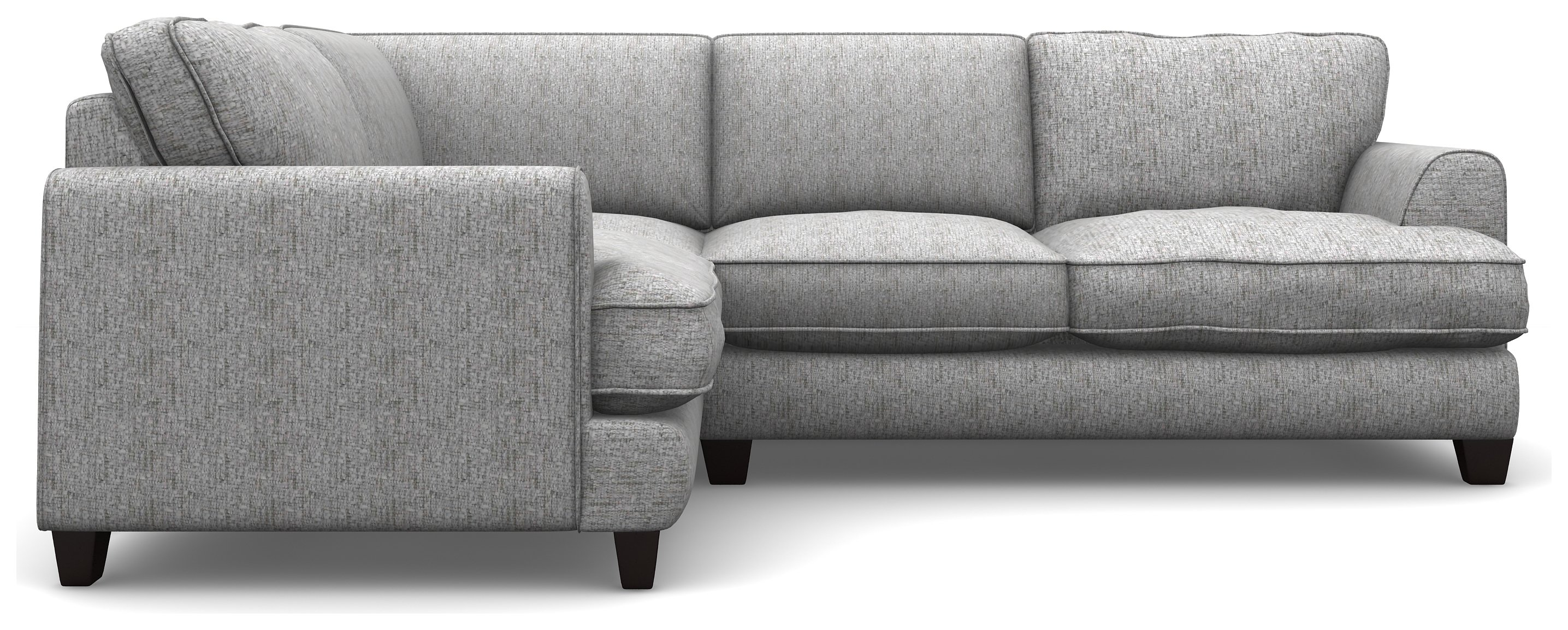Create your own Hampstead Fabric LH Corner Sofa - Light Grey + Black Legs