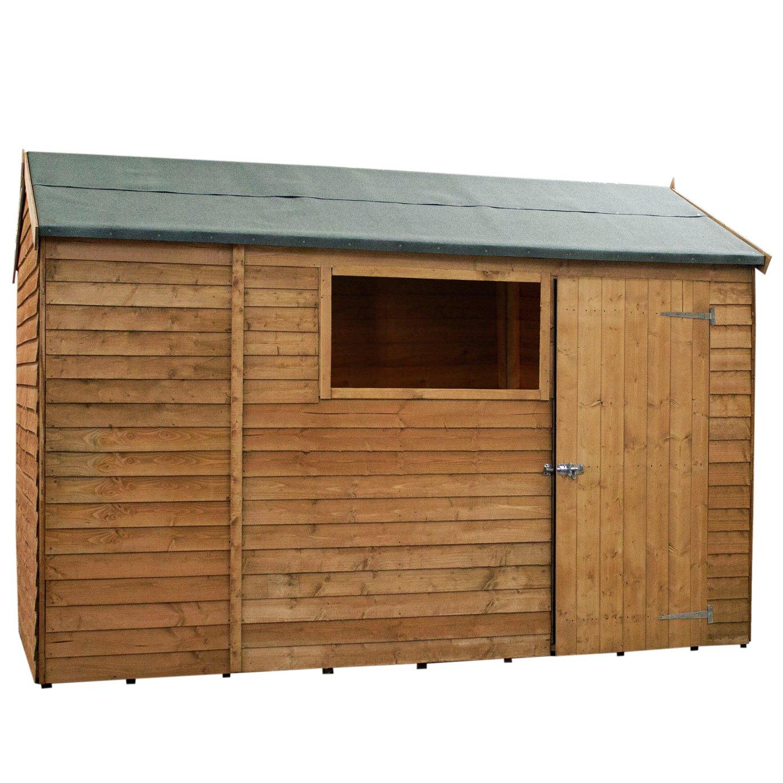 Garden Sheds Argos buy mercia wooden overlap reverse 10 x 6 apex shed at argos.co.uk
