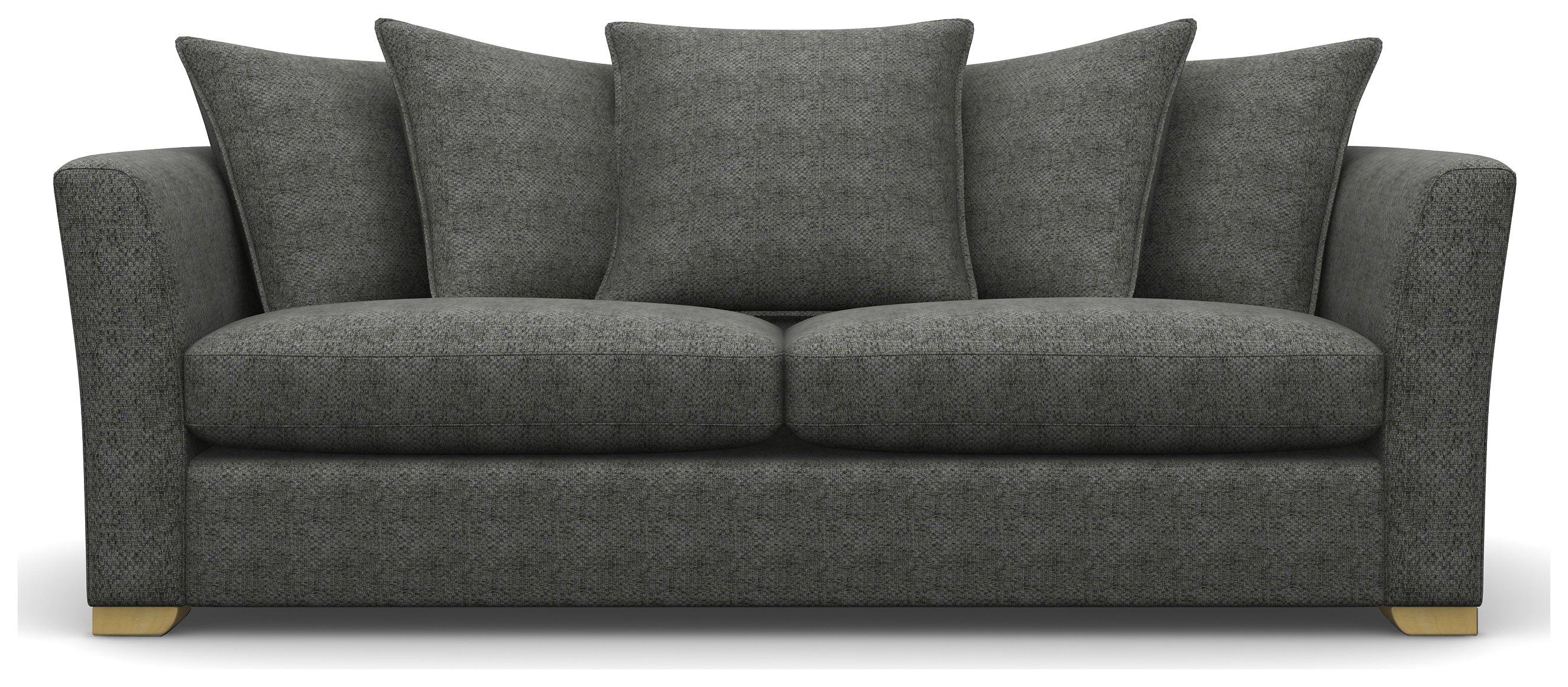 Heart of House Libby 3 Seater Fabric Sofa - Grey