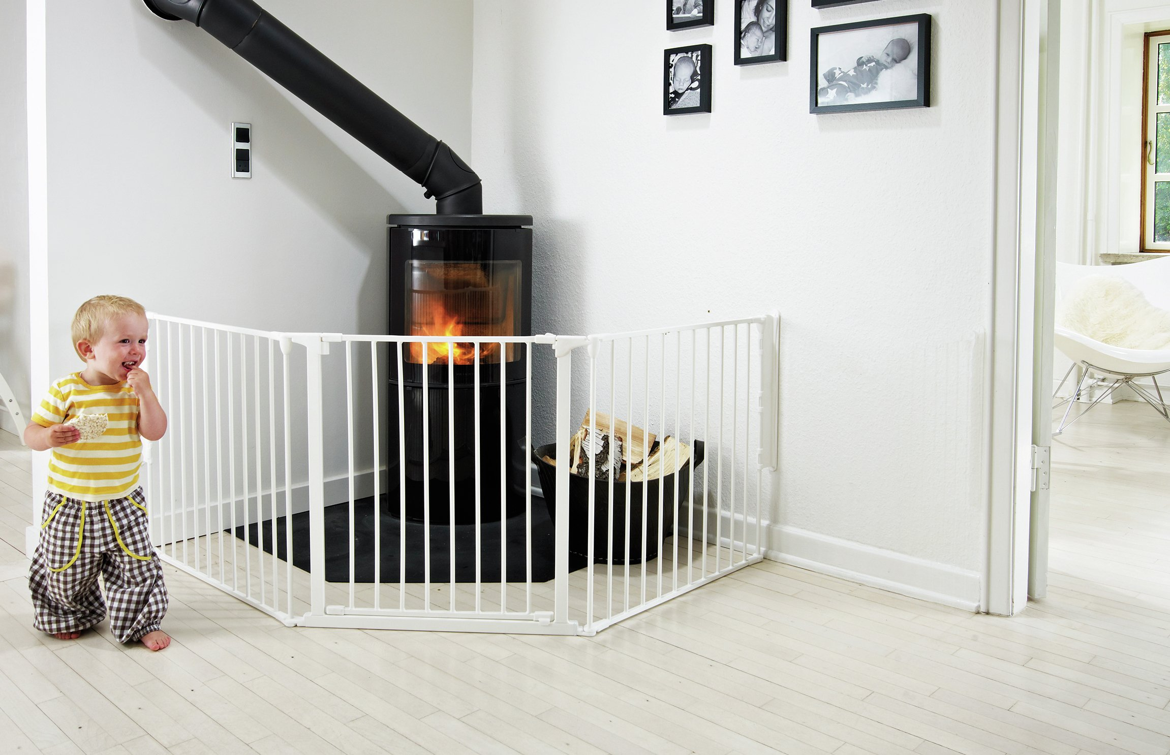 Image of BabyDan Configure Large Gate - White.
