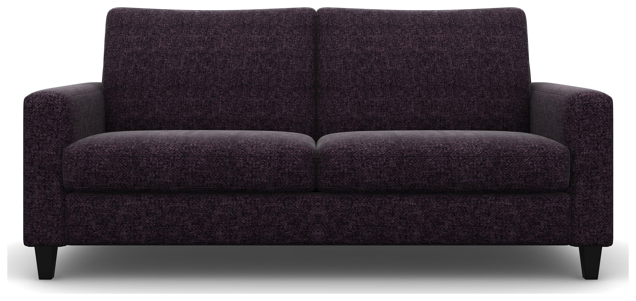 Heart of House Harrison 4 Seater Tweed Fabric Sofa - Purple.