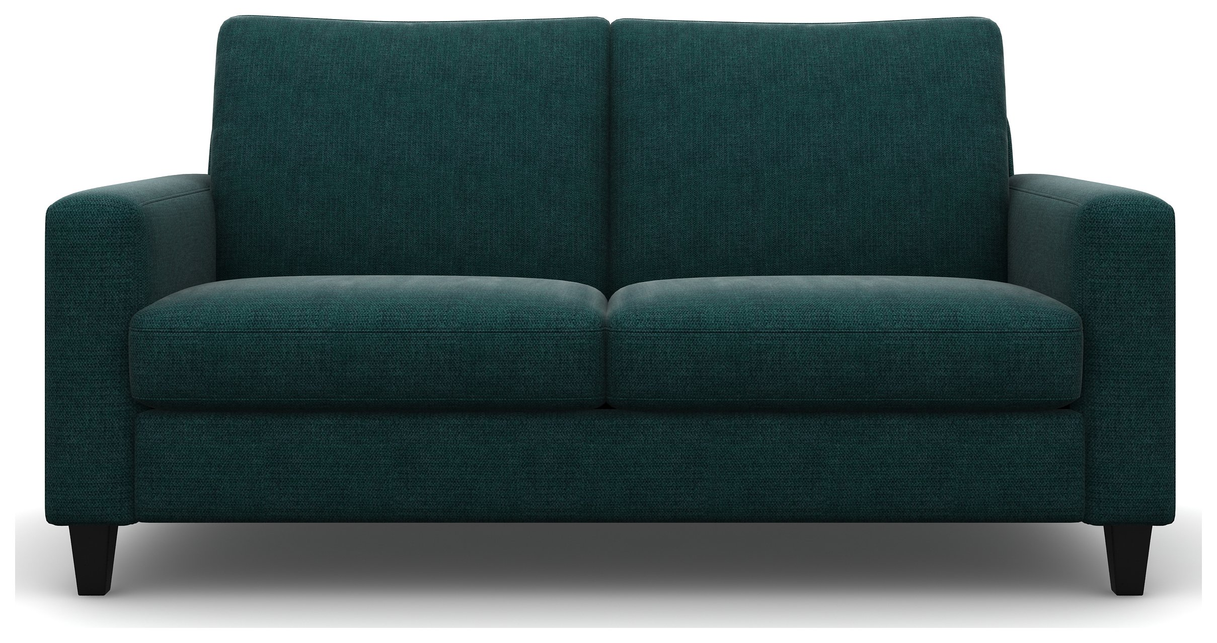 Heart of House Harrison 3 Seater Fabric Sofa - Ocean + Black Legs.