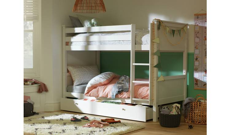 Argos Home Brooklyn Bunk Bed with Drawer - White