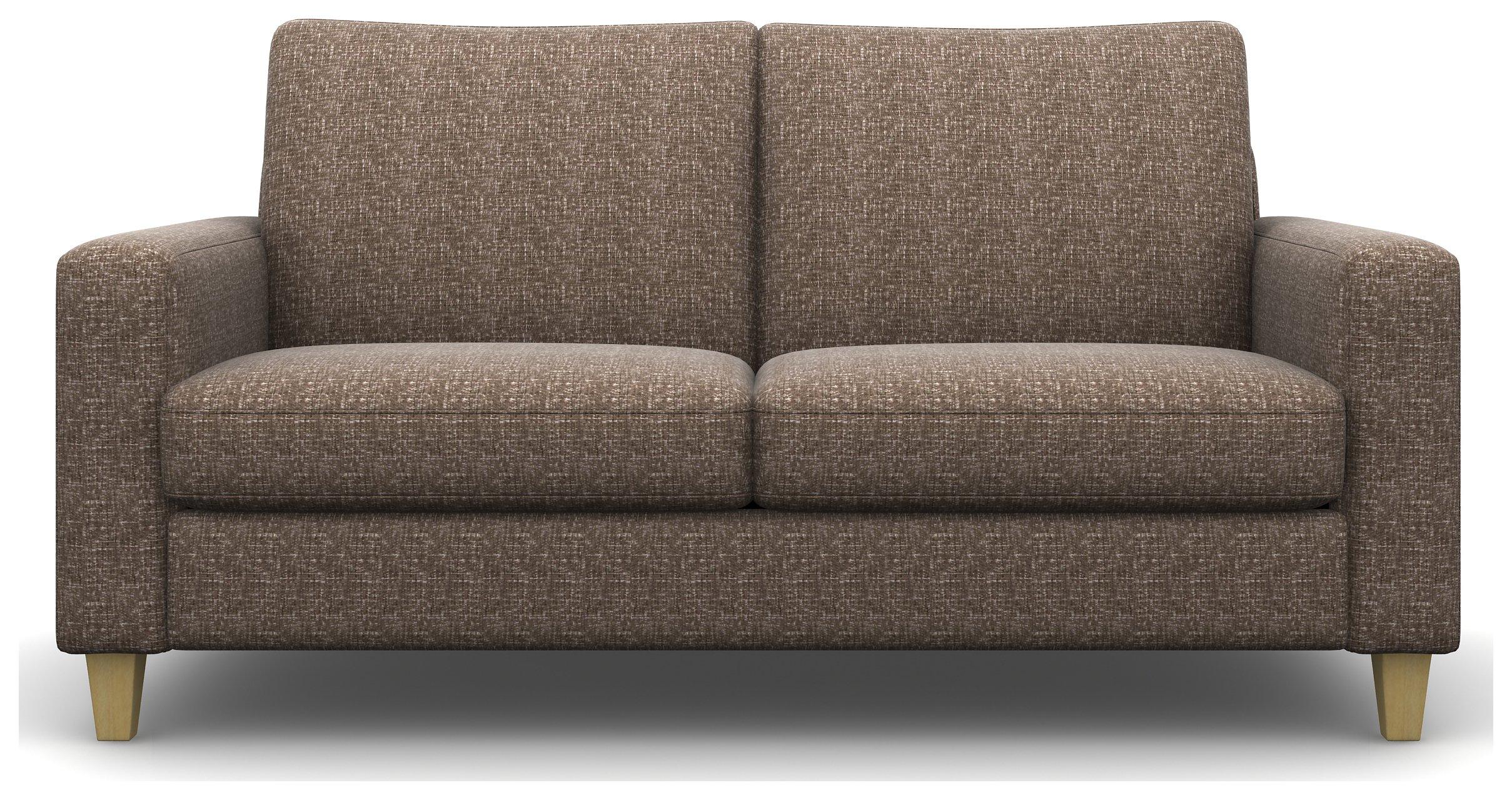 Heart of House Harrison 3 Seater Fabric Sofa - Mink.