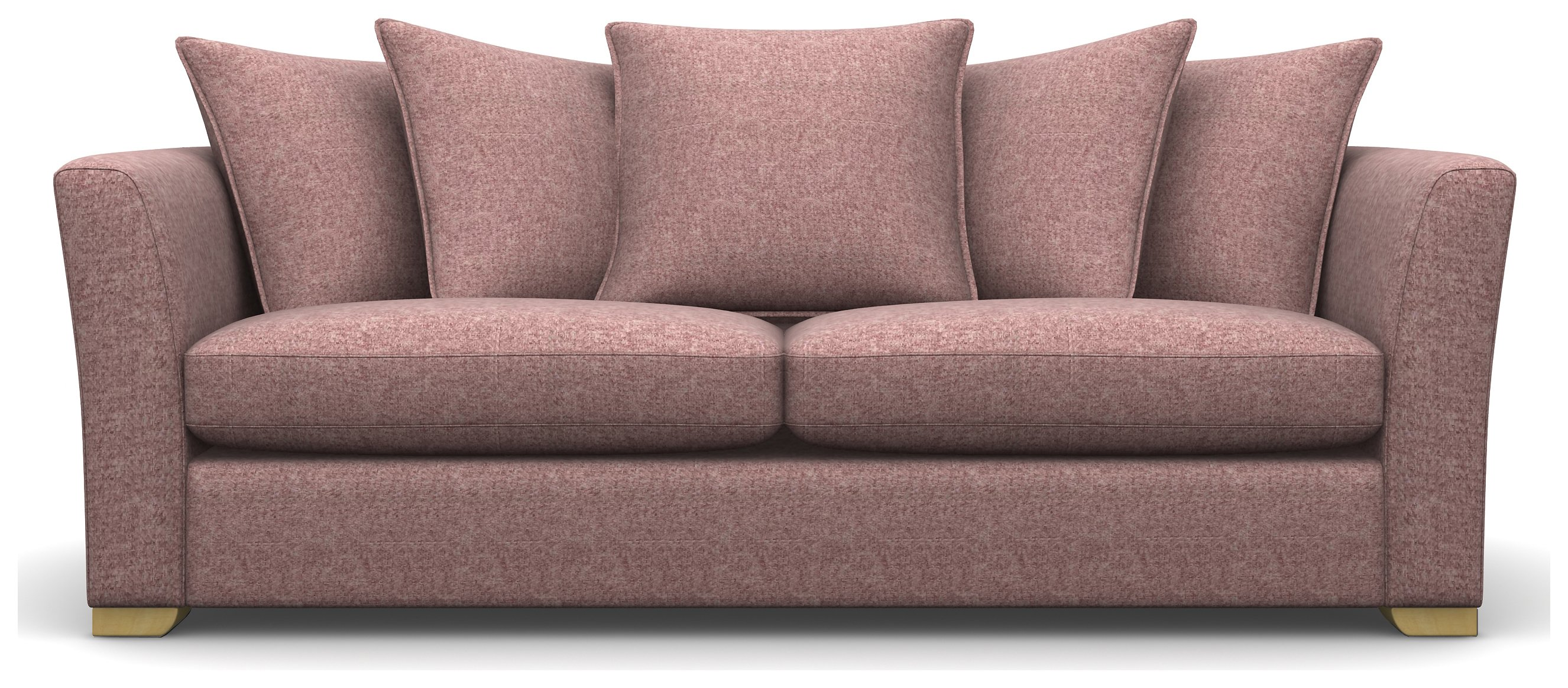 Heart of House Libby 3 Seater Tweed Fabric Sofa - Pink