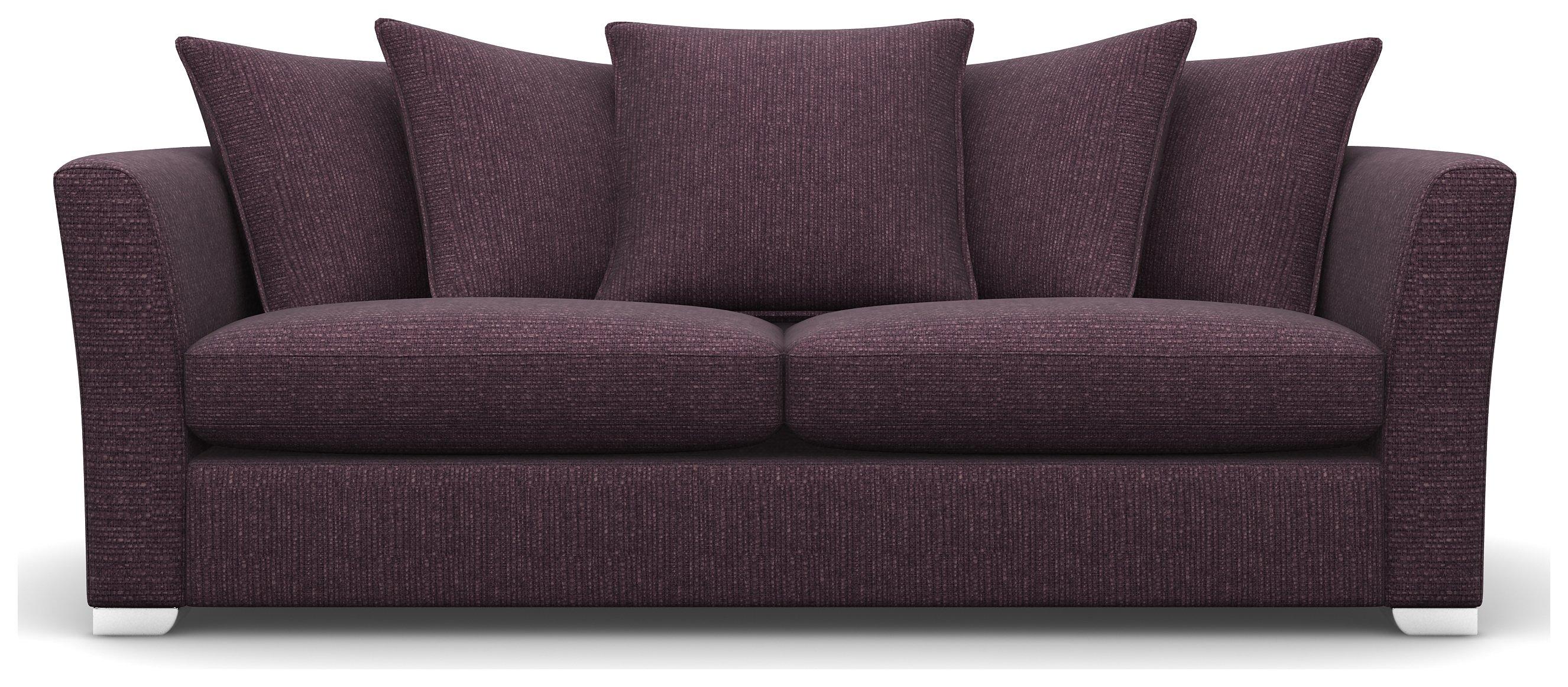 Heart of House Libby 3 Seater Fabric Sofa - Hortsenia + White Legs