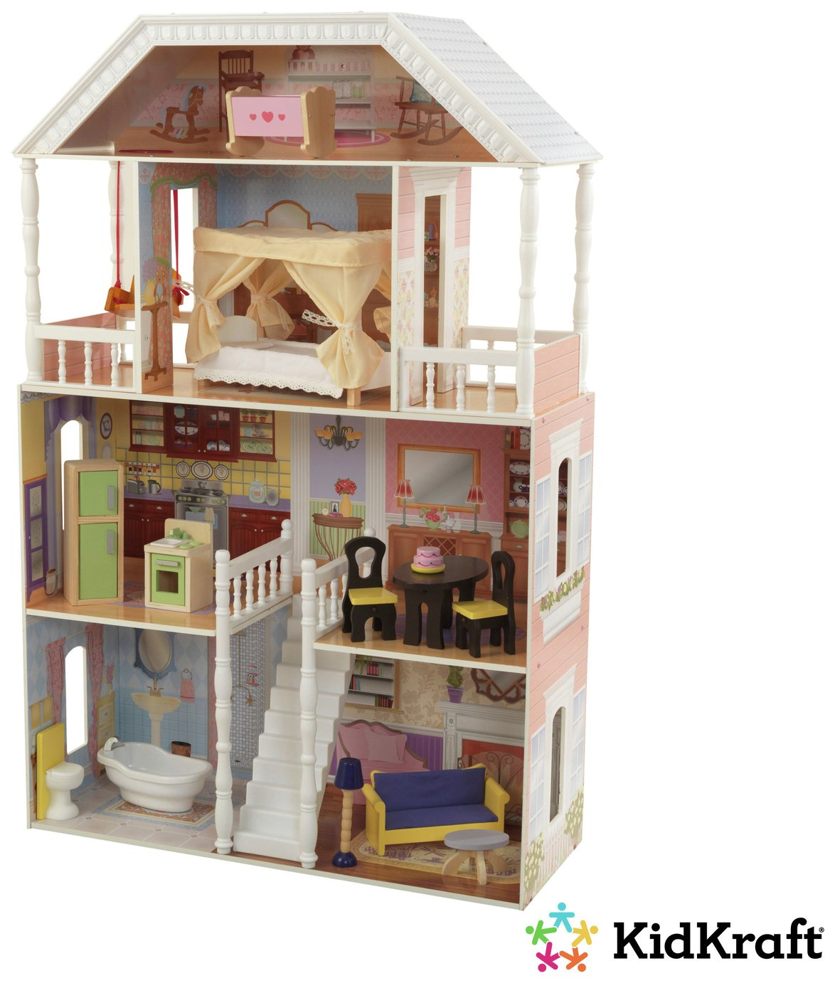 savannah doll house with 14 pieces of furniture