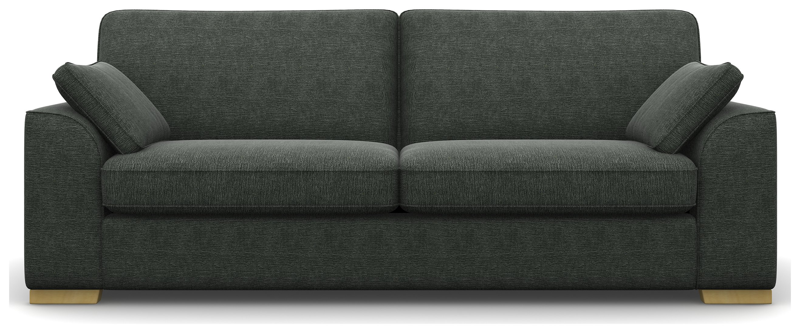 Heart of House Lincoln 4 Seater Fabric Sofa - Light Grey