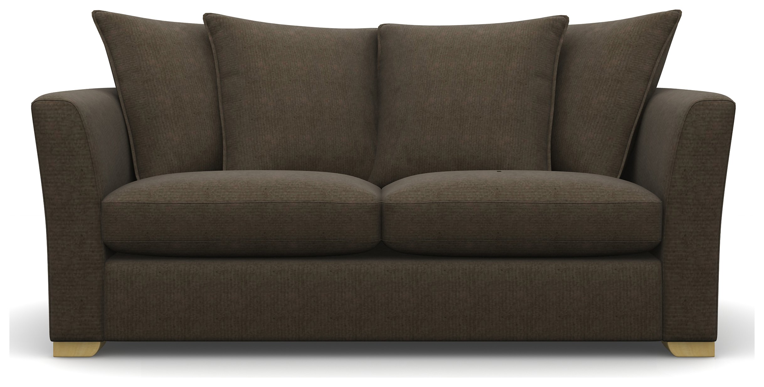 Heart of House Libby 2 Seater Fabric Sofa - Dark Chocolate