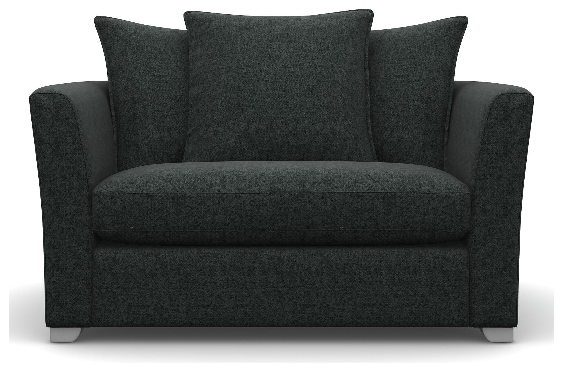 Heart of House Libby Tweed Fabric Cuddle Chair - Charcoal + White Legs