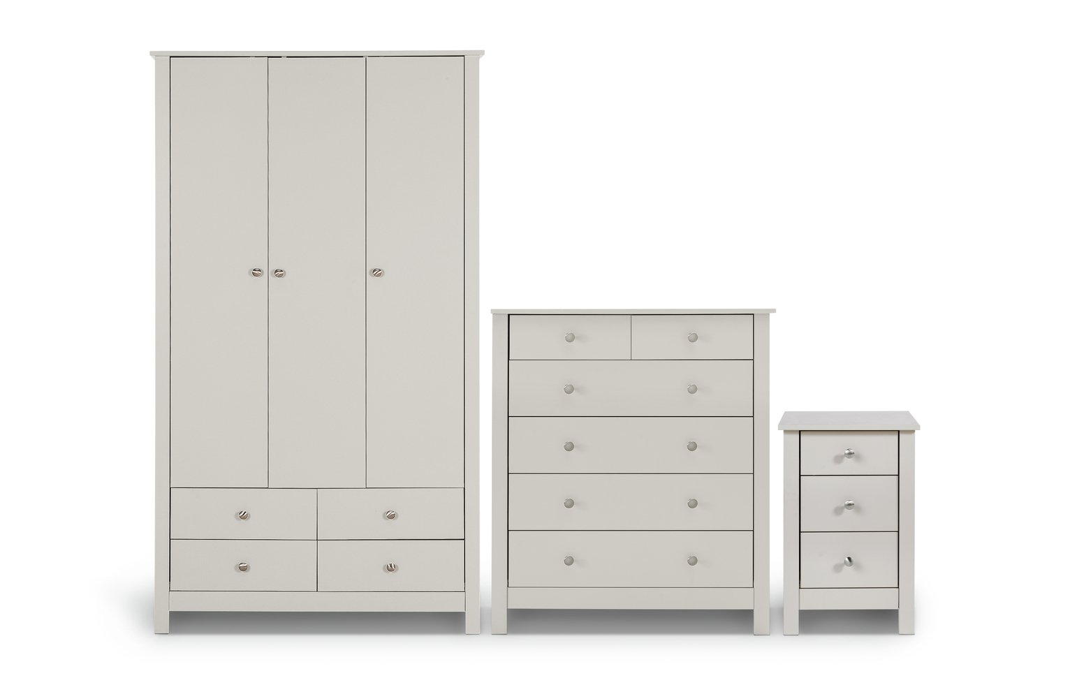 Argos Home Osaka 3 Pc Bedroom Furniture Package - Soft Grey