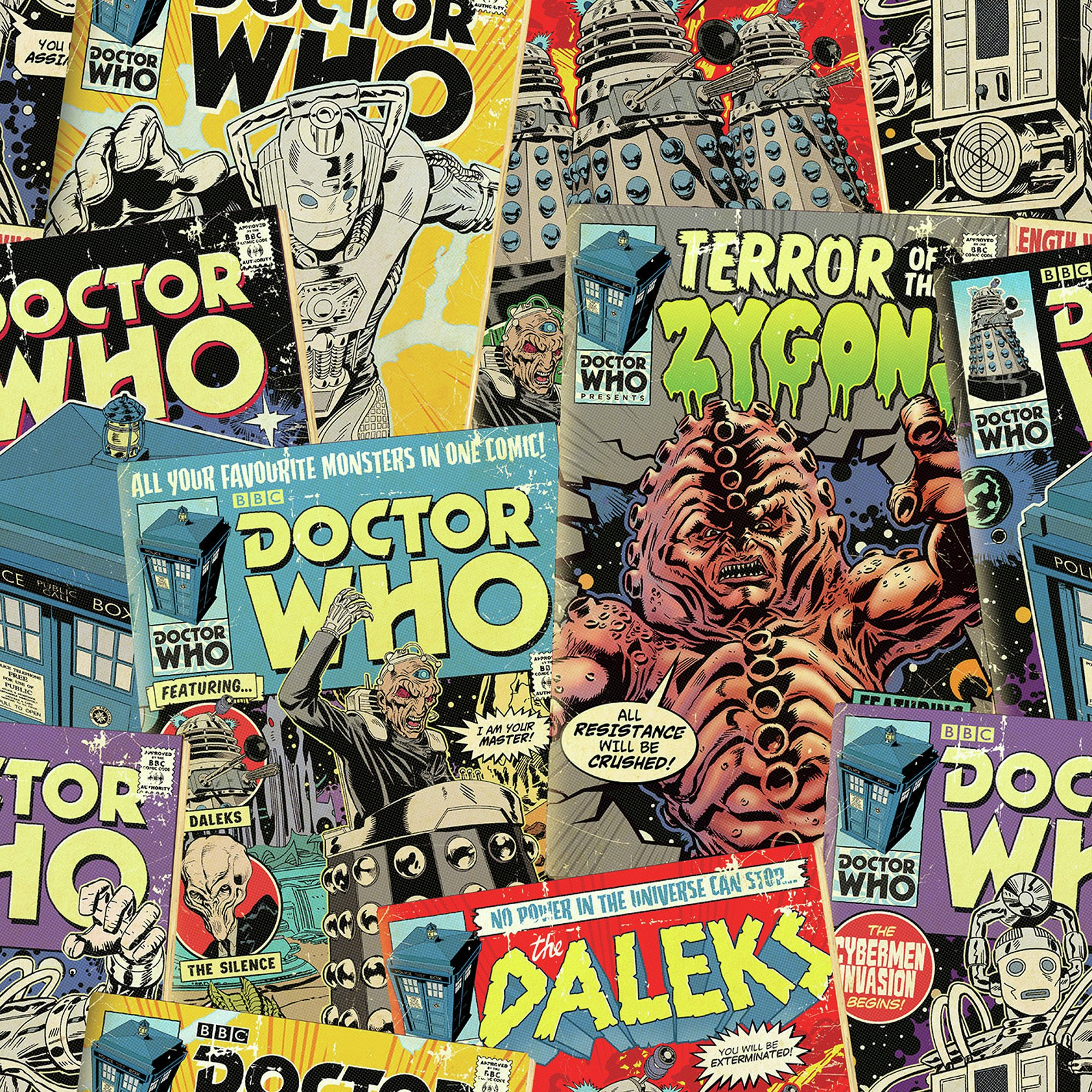 Image of Dr Who Comic Wallpaper.