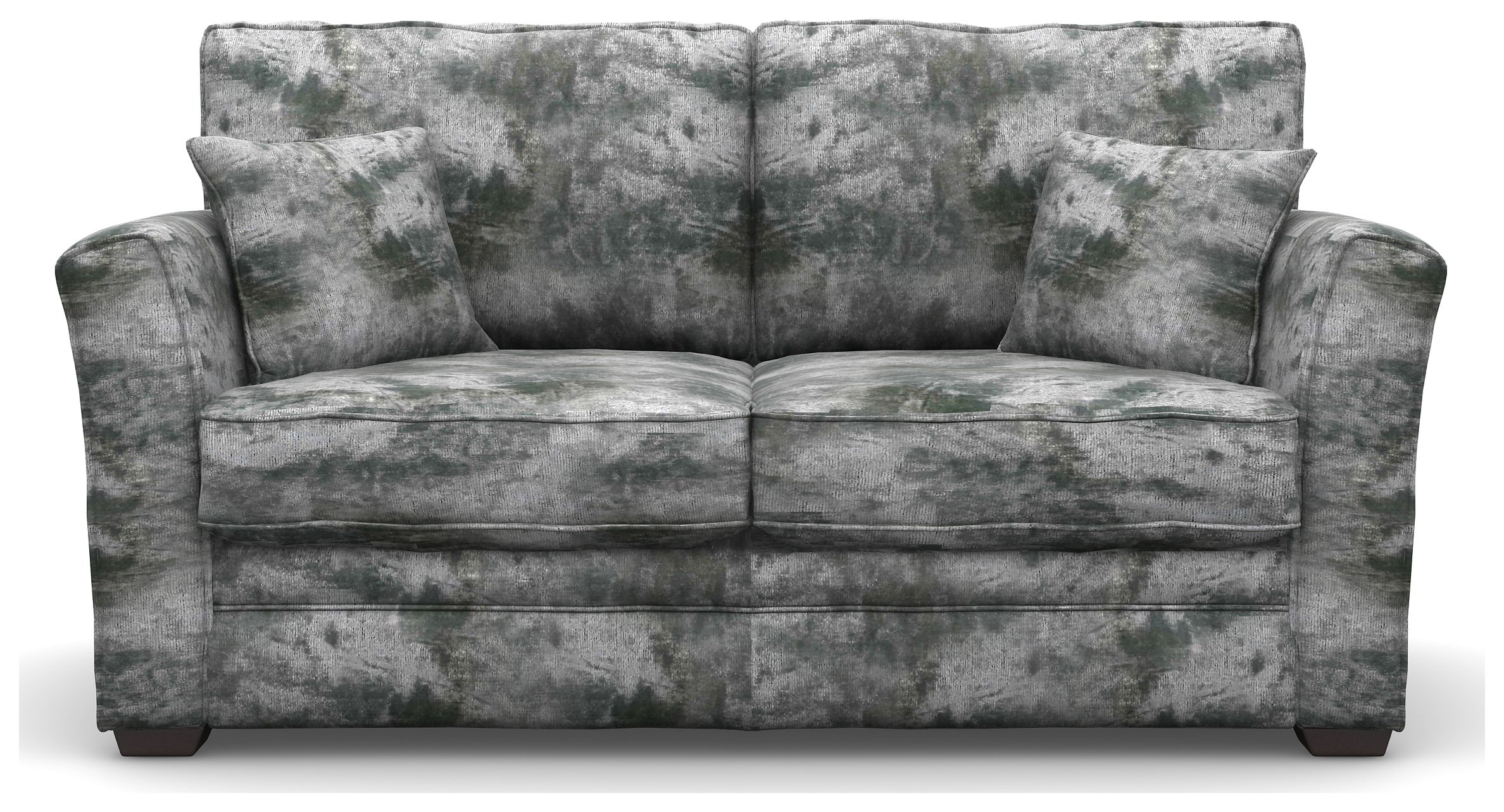 Heart of House Malton 2 Seater Fabric Sofa Bed - Silver + Black Legs