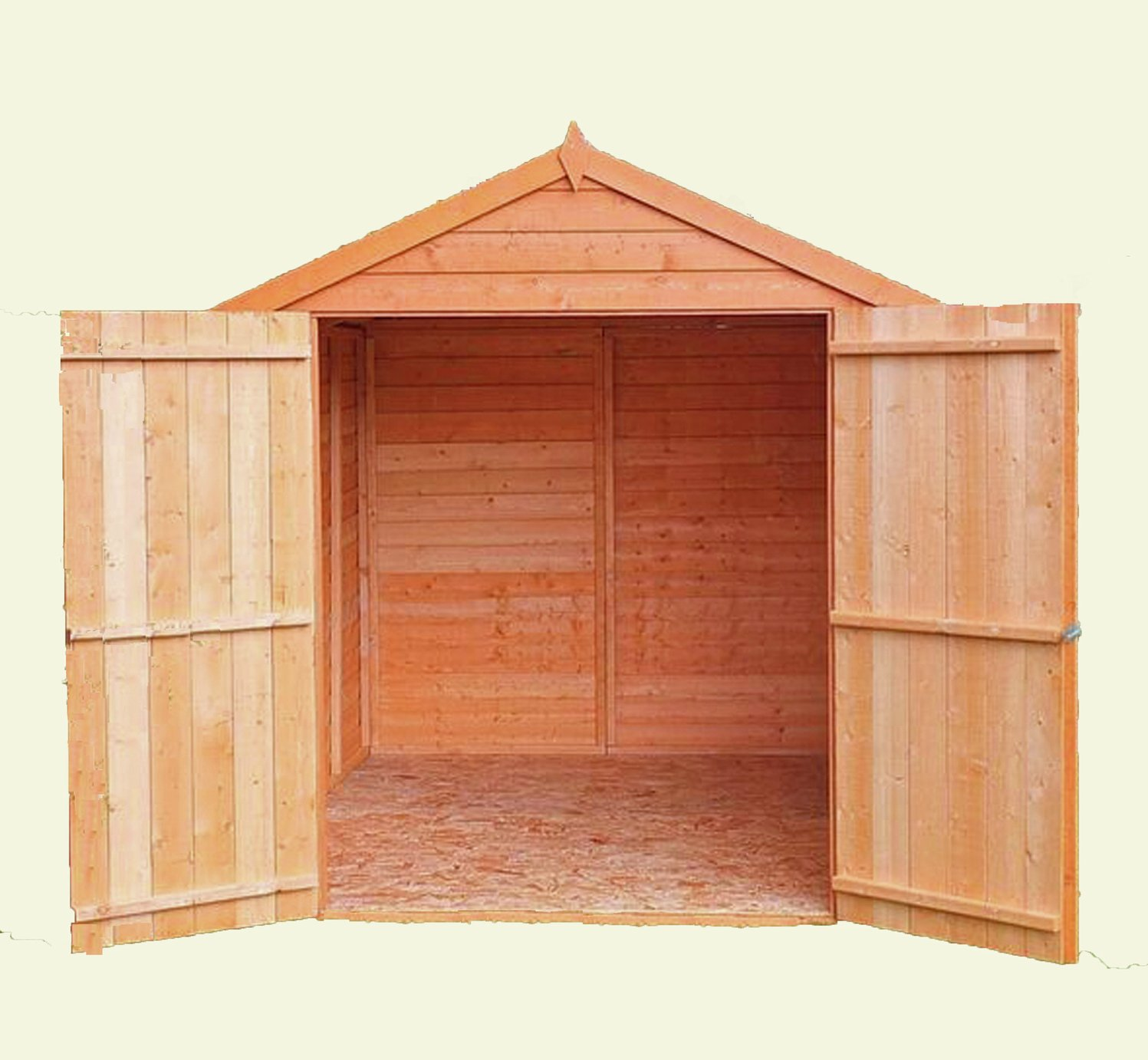 Homewood Wooden 8 x 6ft Overlap Double Door Shed